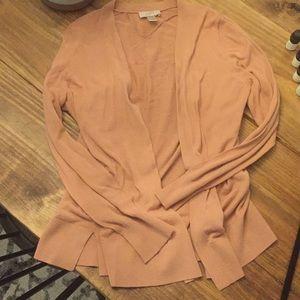 Blush / Pink Open Long Sleeve Cardigan from Loft